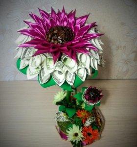 Топиарий денежный кофейный цветок