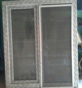Окно пластиковое, с маскитной сеткой