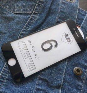 4D защитные стекла на iPhone 6/7