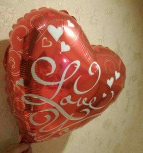 Фольгированные сердца и фигуры с газом