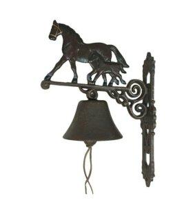 Чугунный колокол Лошадь темная с темным жеребенком
