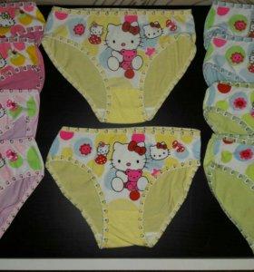Новые трусики для девочки Hello kitty 4-7лет