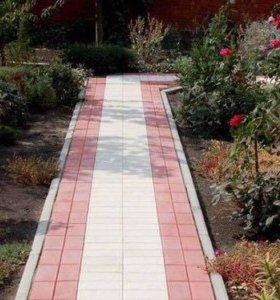 Плитка тротуарная. Цвета серый и красный
