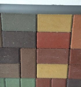 Брусчатка бетонная. Разные цвета