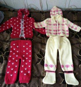 Теплые костюмы на ребенка.