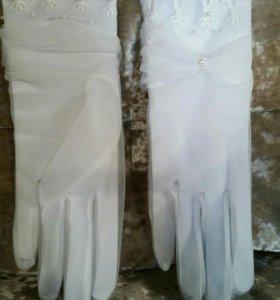Перчатки и фата