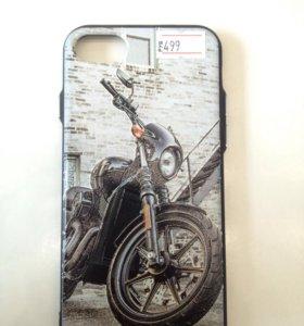 Чехол для iPhone 7 Мото (силикон)