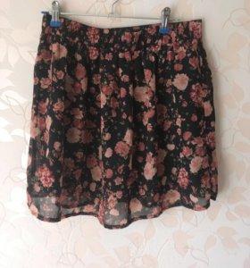 Лёгкая цветочная юбка