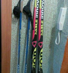 Лыжи коньковые с палками