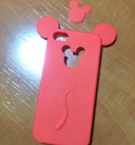 Чехол на IPhone 5/5s/SE Микки Маус силеконовый