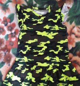 Новое платье х/б рост 116см и 122см