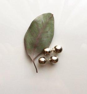 Серебрянные серьги-шарики