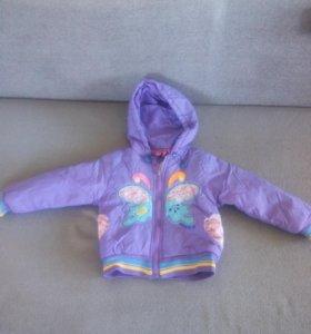 Куртка для девочки рост 86-92