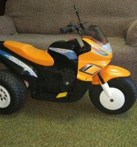 Электромотоцикл детский, 2 скорости, 2 мотора.