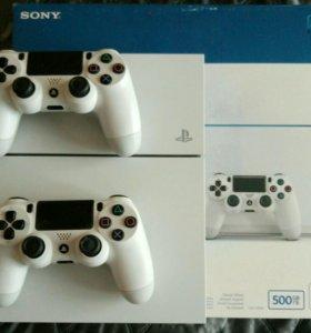 Sony Playstation 4 white, 500 gb., 2 DualShock