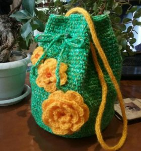 Сумка (рюкзак)-мешок для юных леди.