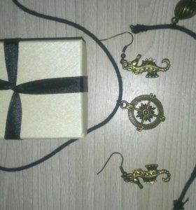 Набор (серьги, колье, браслет)