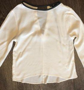 Кремовая блуза HM