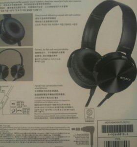 НОВАЯ гарнитура black Sony mdr-xb450ap extra bass