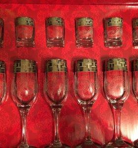 Новый набор бокалов и рюмок