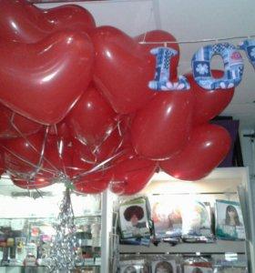 "Шары сердца, 16"" (45 см)"