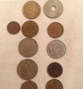 Монеты иностранные и СССР