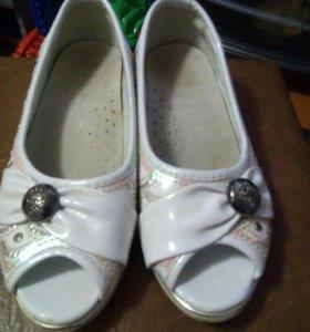 Продам нарядные туфли натур.кожа, ортопедические.