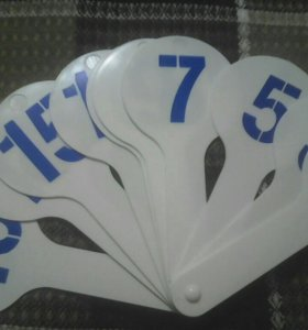 Вееры с буквами и цифрами