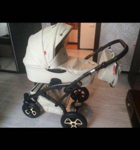 Детская коляска Тамберо 3в1 еврокожа