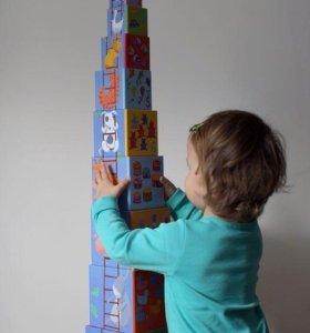 Кубики-пирамидка Djeco новые
