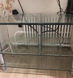 Стол (тумба) стеклянный