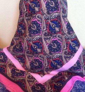 Etro новый платок шелк твил. 90/90 см.