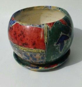 Цветочные керамические горшки