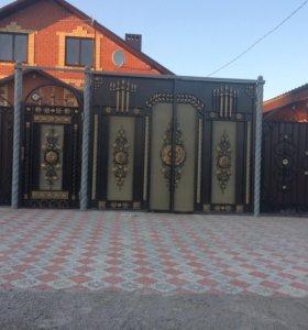 Заборы ,ворота кованые