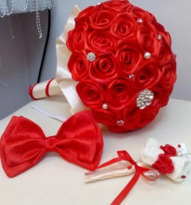 Шикарный свадебный букет невесты