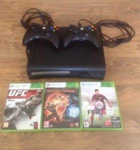 Xbox 360 120GB + 3 игры