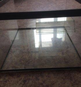 Аквариум стеклянный для черепахи