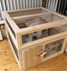 Домашний вольер для кролика