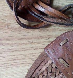 Пояс -ремень кожаный
