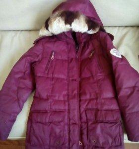 Пальто зимнее для девочки 6-8 лет