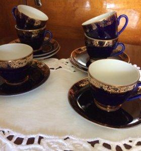 Чашки с блюдцами кофейные
