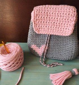 Вязаный рюкзак
