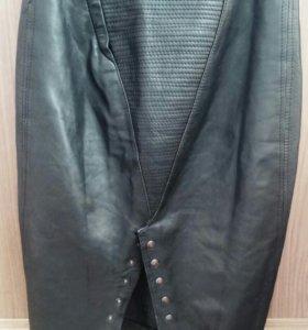 Крутая кожаная юбка