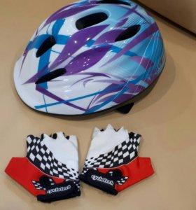 Детский шлем+перчатки