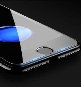 Стекло защитное на iPhone 5/SE/6/6+/7/7+