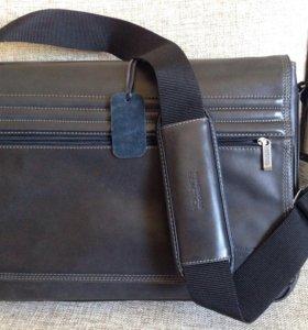 Новая мужская кожаная сумка Kenneth Cole