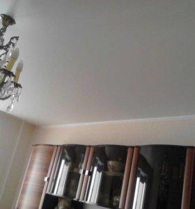 Натяжные потолки белый сатин 500р метр кв