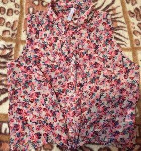 Новая Шифоновая блуза - майка