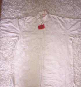 Новая льняная мужская рубашка