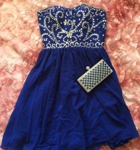 Вечернее платье с клатчем